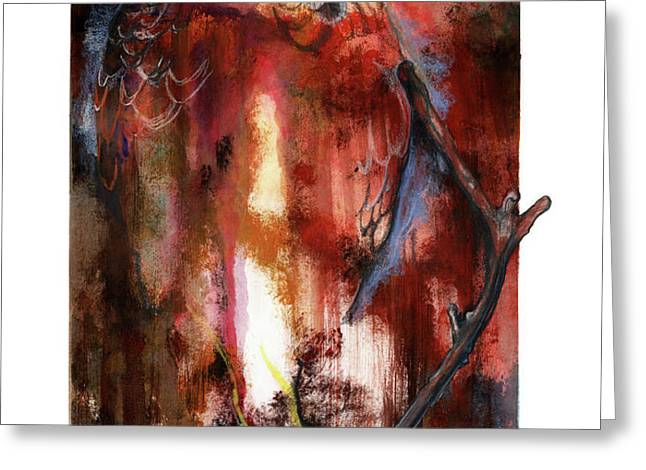 Red Tail Greeting Card by Anthony Burks Sr