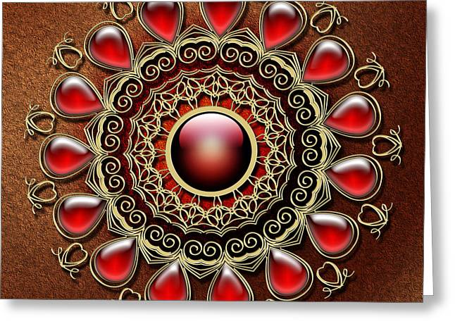 Abstract Shapes Greeting Cards - Red tears Greeting Card by Maria Repkova