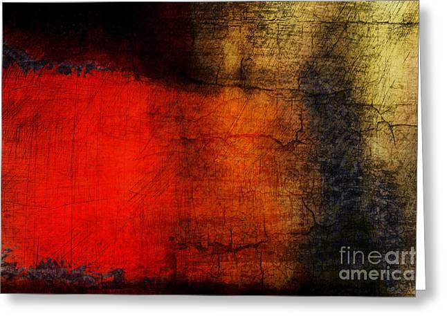 Background Greeting Cards - Red Tide Greeting Card by Edward Fielding