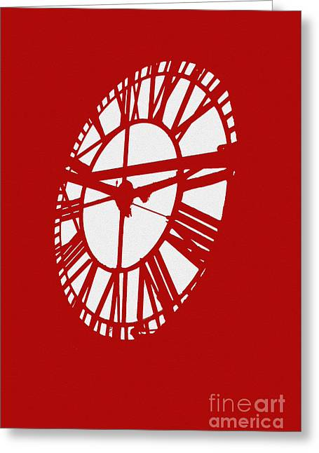 Red Time Greeting Card by Jost Houk