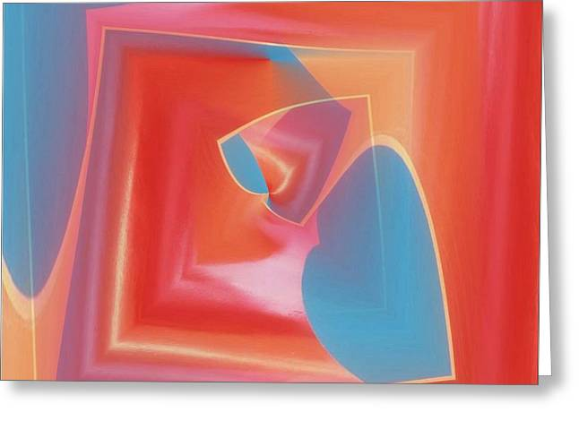 Steel Sculpture Greeting Cards - Red Tubes 3 Greeting Card by Tim Allen