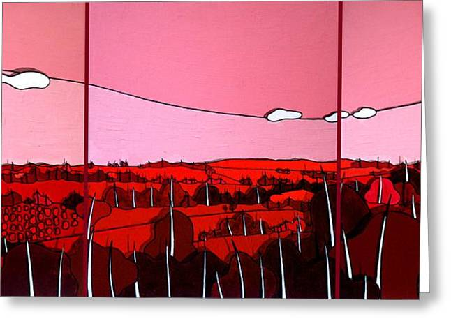 Red Tuscan Longview Greeting Card by Jason Charles Allen