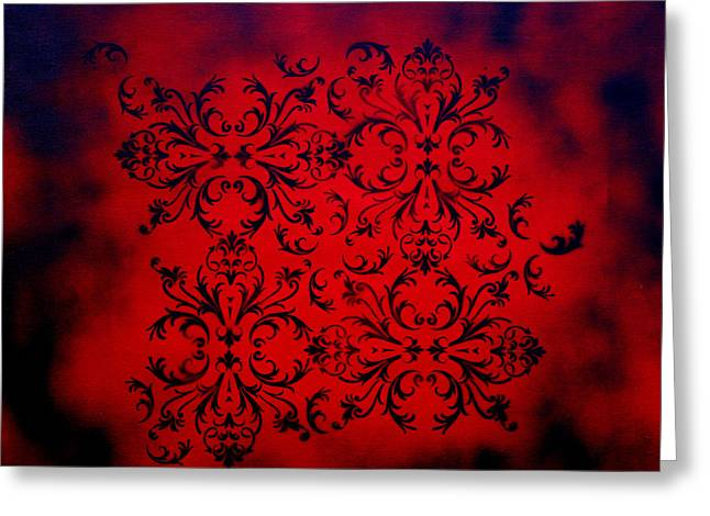 Blue And Brown Greeting Cards - Red Velvet by MADART Greeting Card by Megan Duncanson