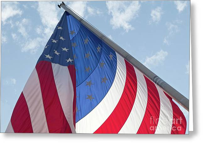 Flag Of Usa Greeting Cards - Red White and Blue Greeting Card by Ann Horn