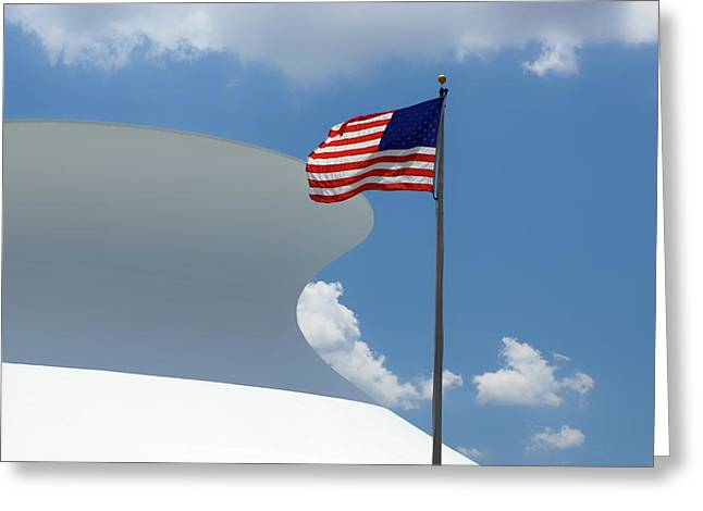 Red White And Blue - Mcdonnell Planetarium Greeting Card by Nikolyn McDonald