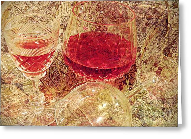 Sarah Loft Greeting Cards - Red Wine 3 Greeting Card by Sarah Loft