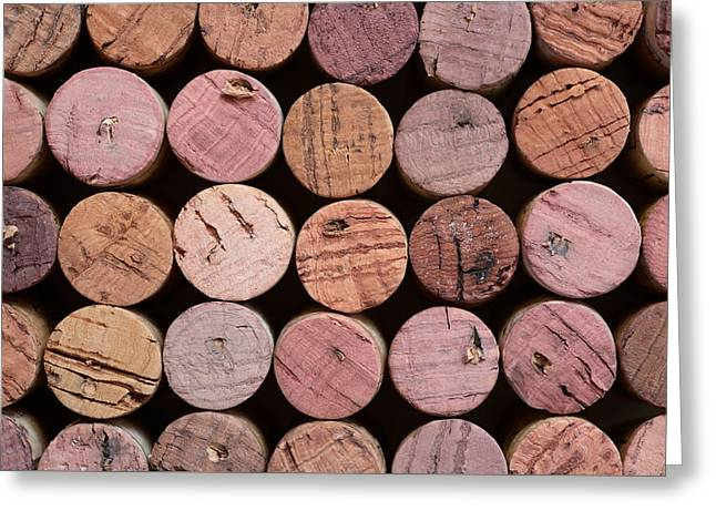 Red Wine Corks 135 Greeting Card by Frank Tschakert