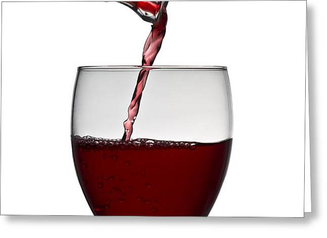 Red Wine Greeting Card by Gert Lavsen