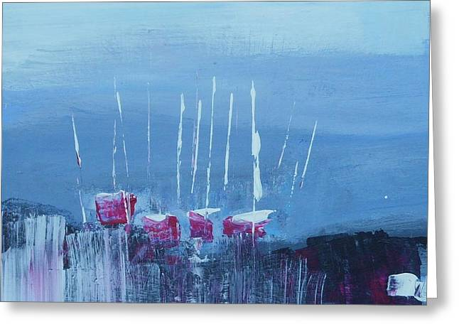 Masts Greeting Cards - Red Yachts 2 Greeting Card by Tim Taylor