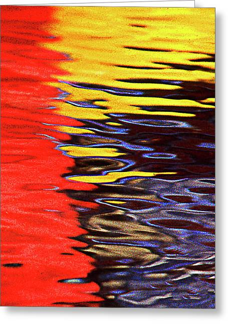 Reflectio Greeting Cards - Red Yellow Blue Greeting Card by Frank Bez