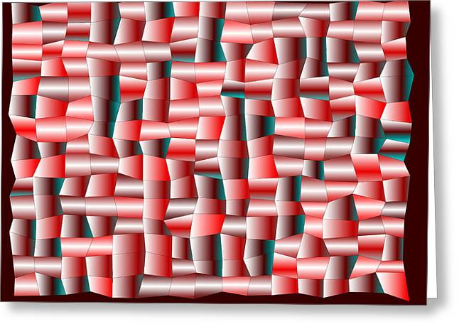 Rectangles Greeting Cards - Red.127 Greeting Card by Gareth Lewis