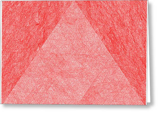 White Greeting Cards - Red.273 Greeting Card by Gareth Lewis