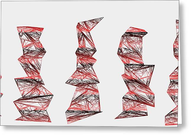 Earth Greeting Cards - Red.338 Greeting Card by Gareth Lewis
