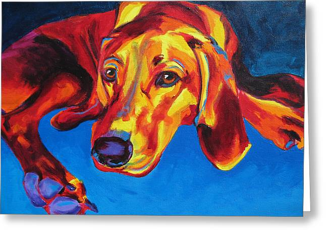Redbone Coonhound Greeting Card by Alicia VanNoy Call