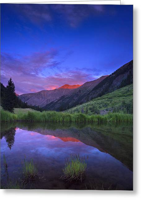 Noah Greeting Cards - Redcloud Mountain Greeting Card by Noah Bryant