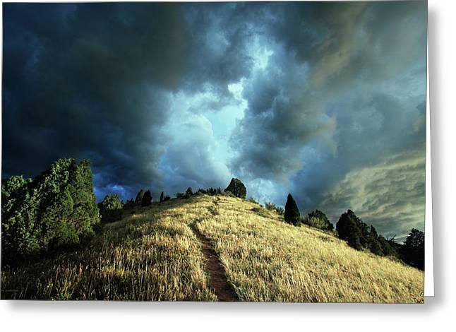 Redemption Trail Greeting Card by Brian Gustafson