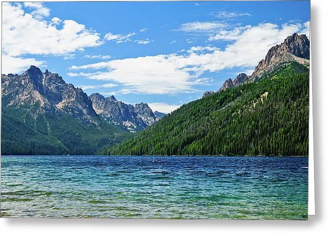 Sawtooth Mountain Art Greeting Cards - Redfish Lake Greeting Card by Greg Norrell
