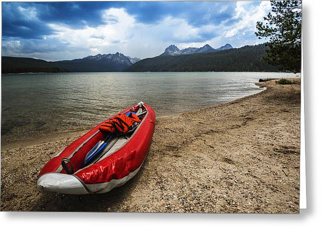 Quite Greeting Cards - Redfish Lake Stanley Idaho Greeting Card by Vishwanath Bhat