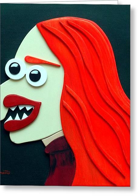 Sal Marino Greeting Cards - Redhead Greeting Card by Sal Marino
