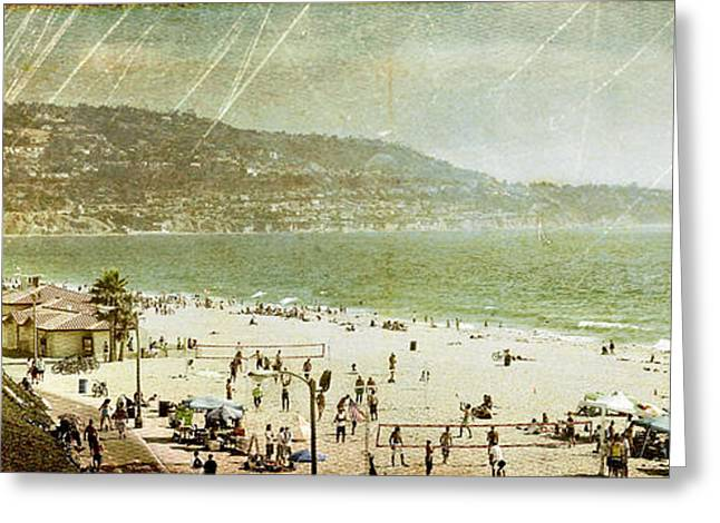 Volley Greeting Cards - Redondo Beach LA Greeting Card by Kevin Bergen