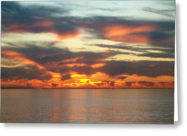 Recently Sold -  - California Ocean Photography Greeting Cards - Redondo Beach Sunset Greeting Card by Mark Barclay