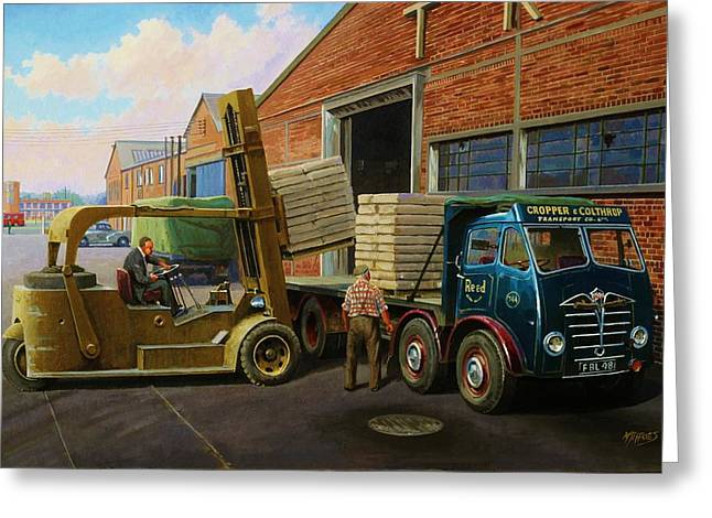 Original For Sale Greeting Cards - Reed Paper Foden FG Greeting Card by Mike  Jeffries