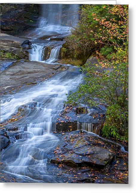 Mccoy Greeting Cards - Reedy Cove Falls 1 Greeting Card by A Different Brian Photography