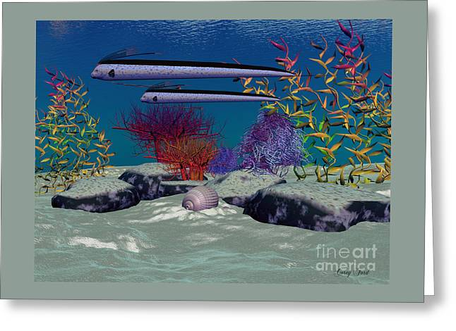 Reef Greeting Card by Corey Ford