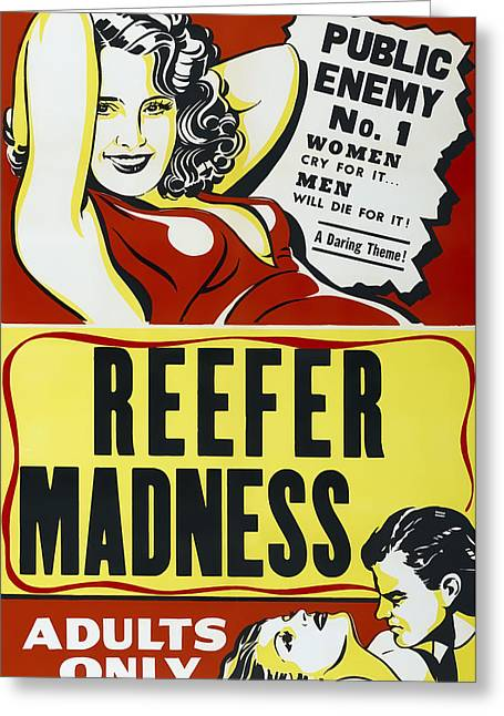 Reefer Madness Movie Lobby Ad  1936 Greeting Card by Daniel Hagerman