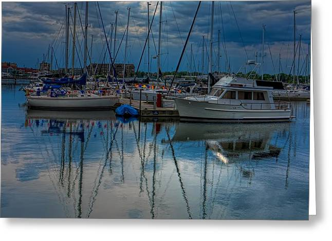 Square Format Greeting Cards - Reefpoint Marina Square Format Greeting Card by Dale Kauzlaric