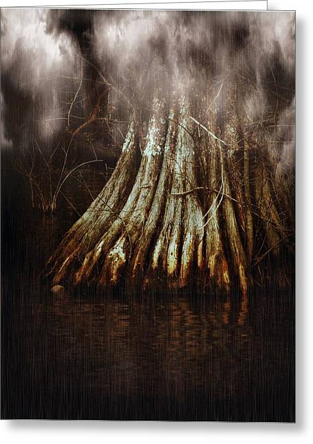 Reelfoot In Gentle Rain Greeting Card by Julie Dant