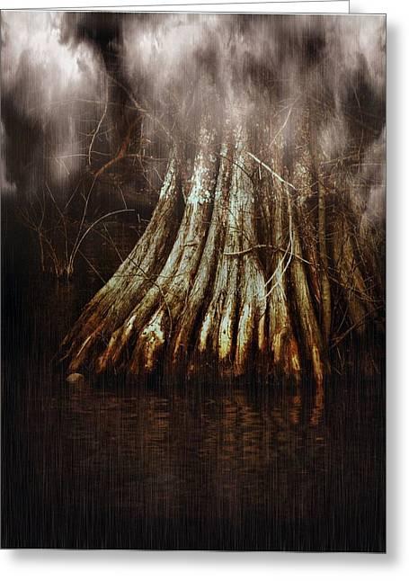 Reelfoot In Gentle Rain Greeting Card by Julie Dant