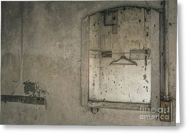 Abandoned House Mixed Media Greeting Cards - Reflected Past Greeting Card by Terry Rowe