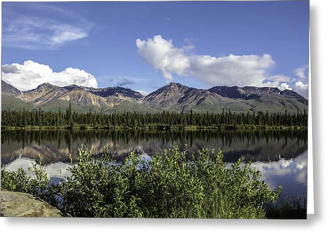Beautiful Scenery Greeting Cards - Reflecting On A Beautiful Day In Alaska Greeting Card by Madeline Ellis