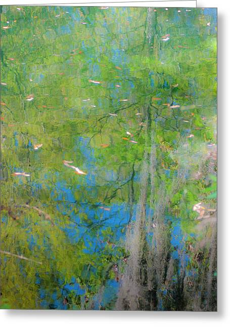 Pondering Greeting Cards - Reflecting on Abundant Humidity Greeting Card by Sean Holmquist