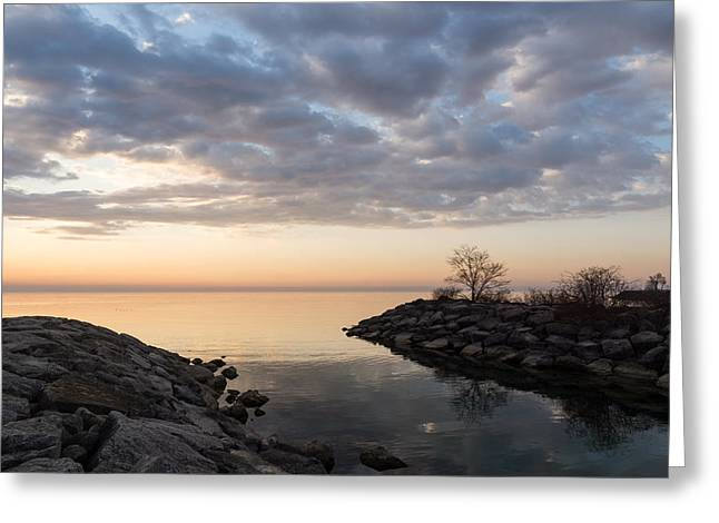 Gloaming Greeting Cards - Reflecting on Quiet Peaceful Mornings Greeting Card by Georgia Mizuleva
