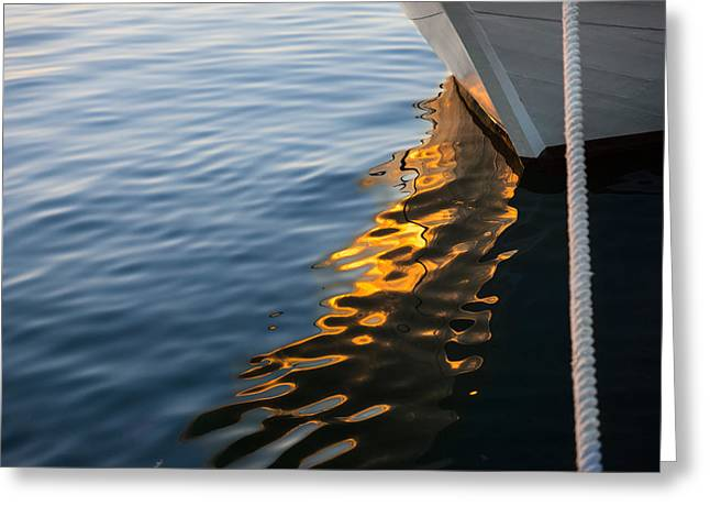 Tall Ship Greeting Cards - Reflecting on Yachts and Sunsets Greeting Card by Georgia Mizuleva