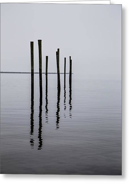 New England Coast Line Greeting Cards - Reflecting Poles Greeting Card by Karol  Livote