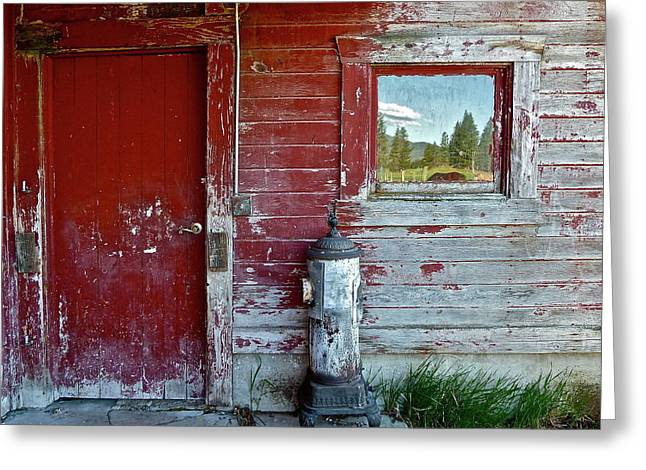 Old Barns Greeting Cards - Reflecting The Landscape Greeting Card by Diana Hatcher