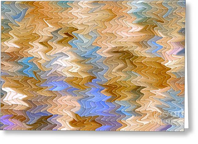 Abstract Waves Greeting Cards - Reflection Abstract Greeting Card by Alexandra Lavizzari