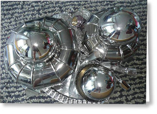 Chrome Sculptures Greeting Cards - Reflection Greeting Card by Aline Martinez