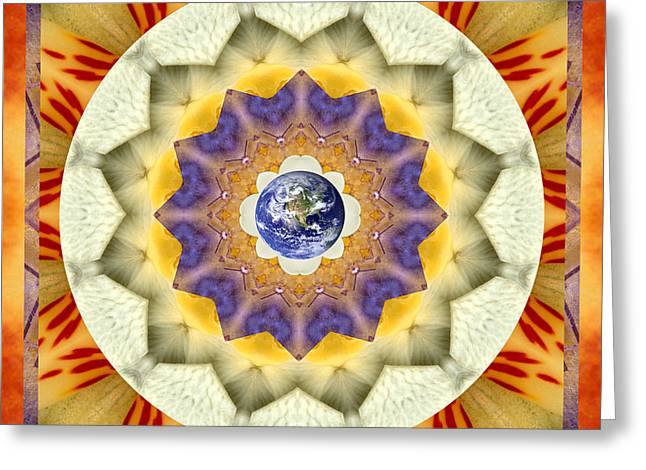 Purple Chakra Greeting Cards - Reflection Greeting Card by Bell And Todd
