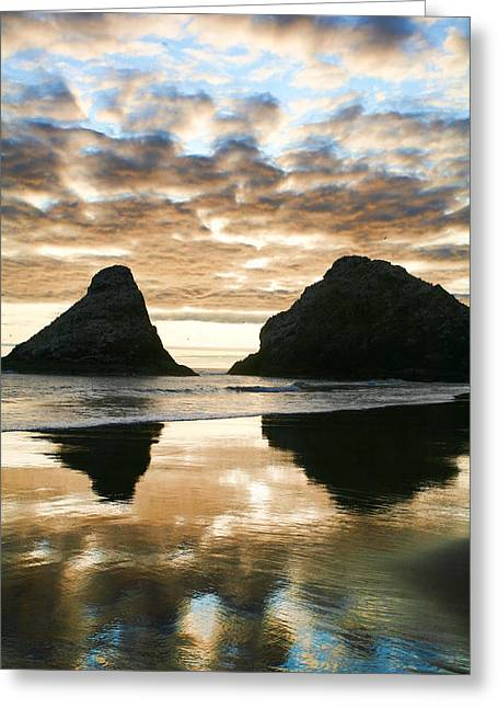 Reflective Water Greeting Cards - Reflection Greeting Card by Bonnie Bruno