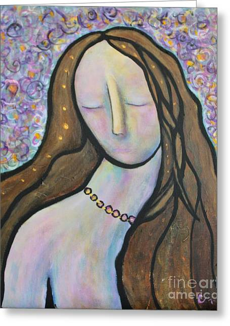 Reflection Greeting Card by Chaline Ouellet