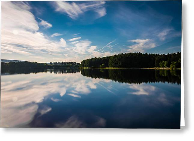Tranquility Greeting Cards - Reflection - Entwistle Reservoir Greeting Card by Daniel Kay