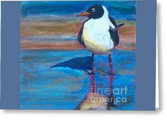 Beach Greeting Cards - Reflection Greeting Card by Leslie Dobbins