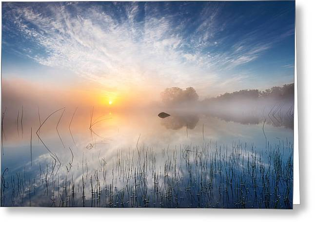 Sunrise Greeting Cards - Reflection Greeting Card by Martin Lutz