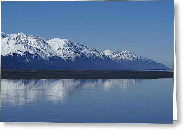Reflection Mountains Greeting Card by Robert Reasner