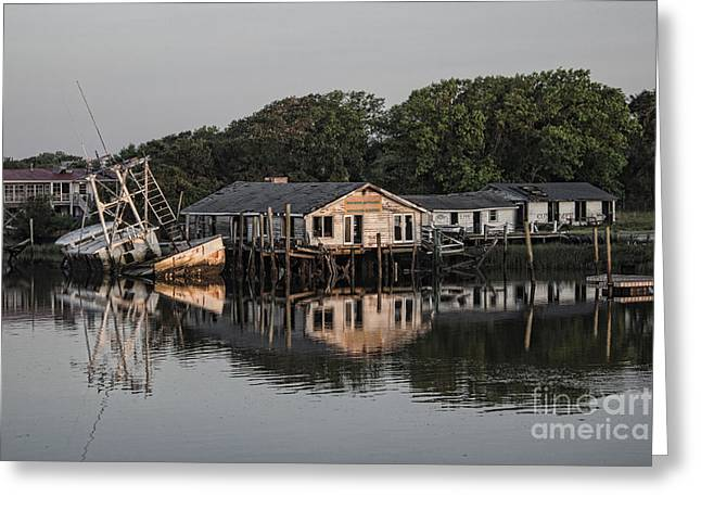 Shack Greeting Cards - Reflection noitcelfeR Greeting Card by Roberta Byram