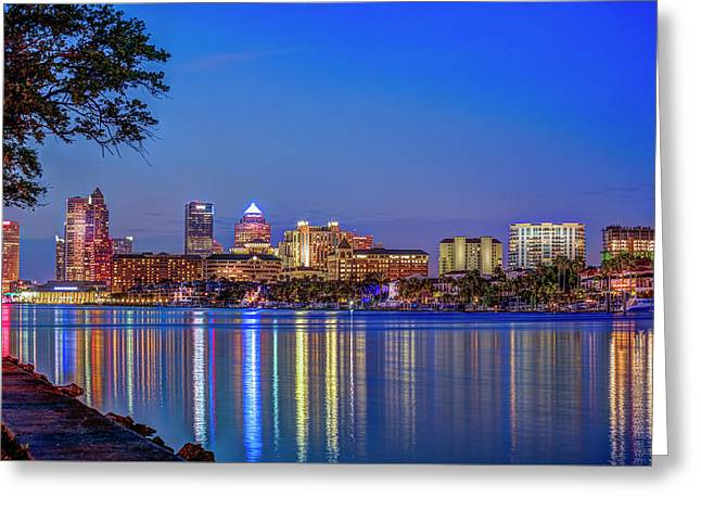 Reflection Of A City Greeting Card by Marvin Spates